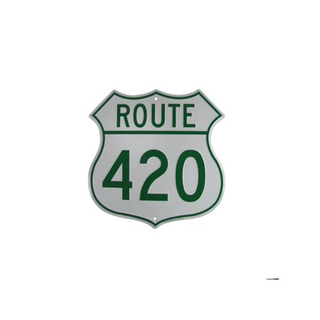 US HIGHway 420 Funny Metal Weed Sign Marijuana Humor Man Cave Bar Pub Wall Decor - Man Cave Pub Sign