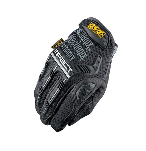 Mechanix Wear 2X Black And Gray M-Pact Full Finger Synthetic Leather Anti-Vibration Gloves With Hook And Loop Cuff, PORON XRD Palm Padded And Rubberized Grip On Thumb, Index Finger And Palm