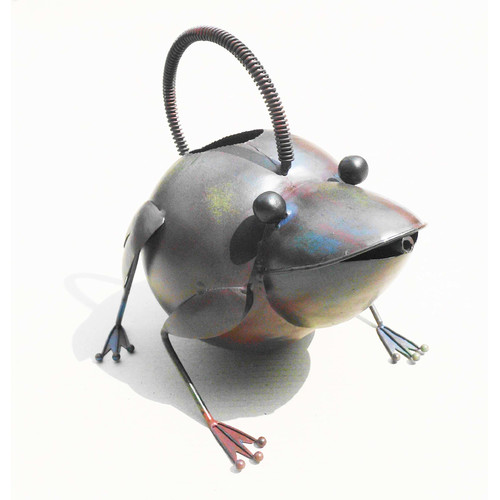 D-Art Collection Iron Frog Watering Can by Overstock