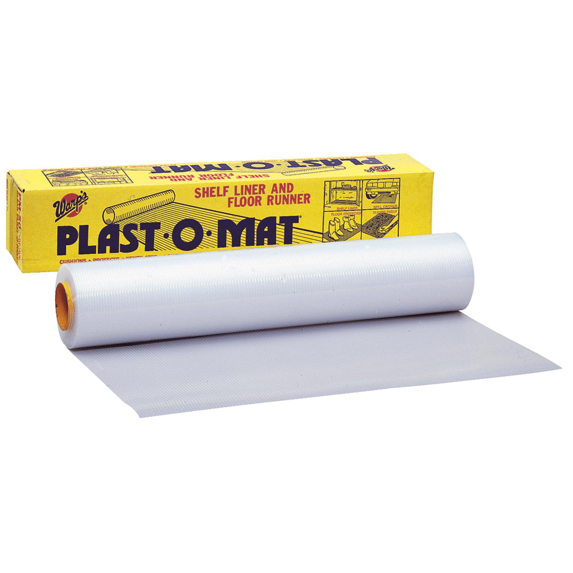 """Warp Brothers PM-50 30"""" x 50' Clear Plast-O-Mat Flooring Roll"""
