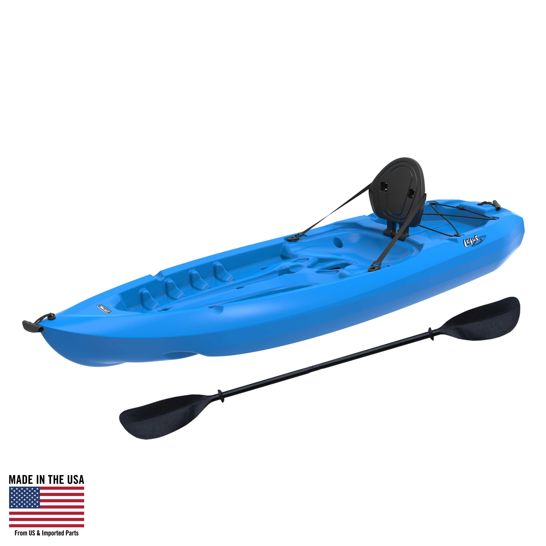 Lifetime, 8', 1-Man Lotus Kayak, Blue, with Bonus Backrest and Paddle, 90112