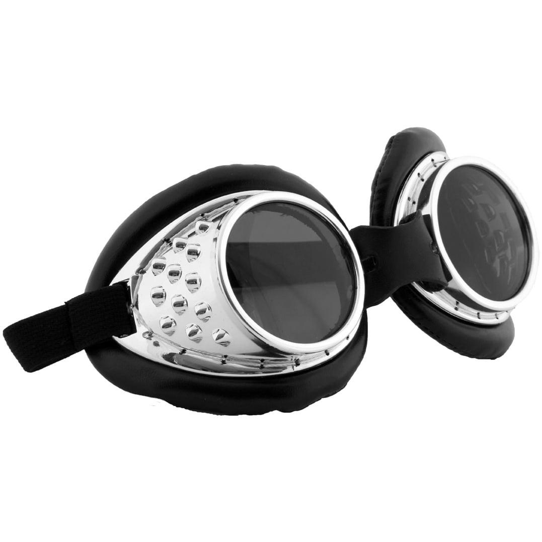 Steampunk Radioactive Silver Goggles