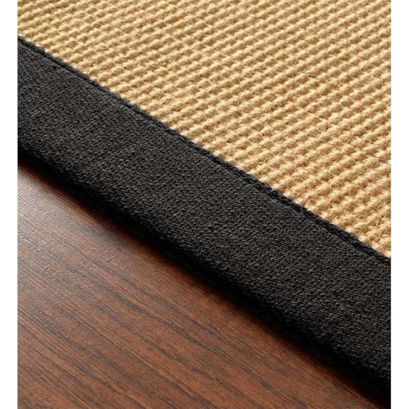 Nuloom 2'6 x 8' Machine Woven Laurel Jute Rug in Black - image 4 of 4