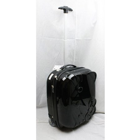 Hello Kitty ABS Rolling Luggage (Black) #82338