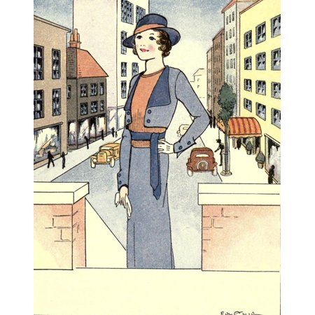 The Mode in Dress & Home 1935 A brown or intermediate type Canvas Art - Unknown (18 x 24)