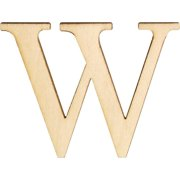 """Wood Letters & Numbers 1.5"""" 2/pkg-w"""
