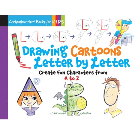 Drawing Cartoons Letter by Letter : Create Fun Characters from A to Z - Easy Halloween Cartoon Drawings