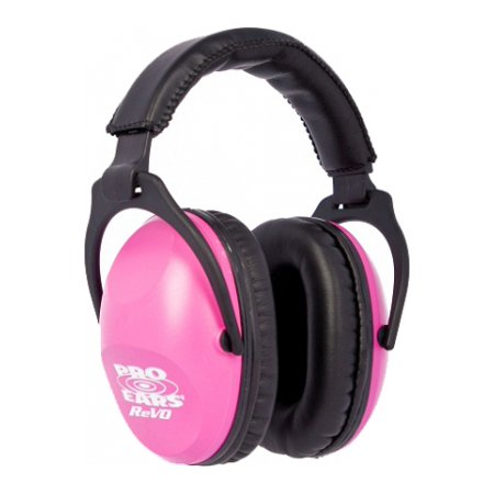 Pro Ears - ReVO Passive Hearing Protection - NRR 25 - Youth and Women Ear Muffs - Neon Pink
