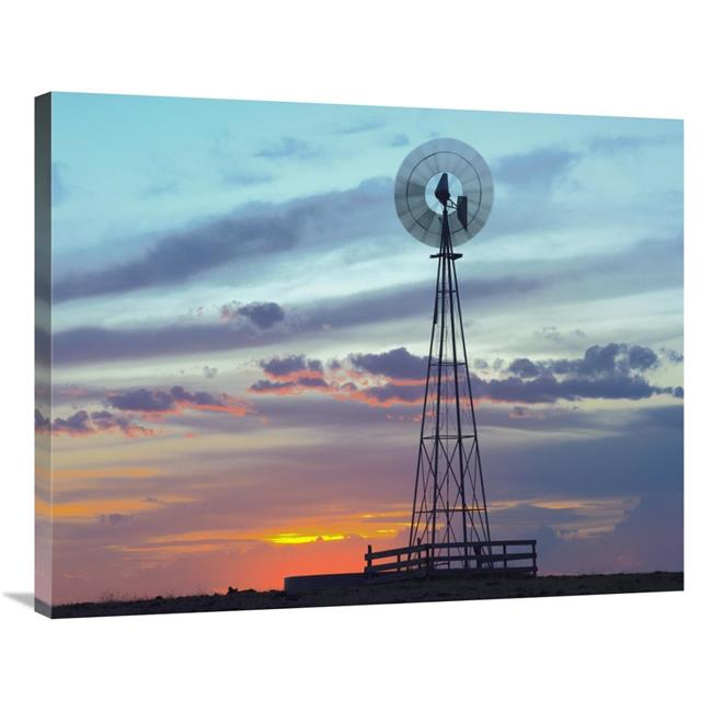 Drawstring Backpack Windmill Sunset Rucksack