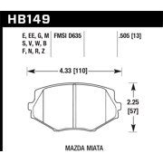 Hawk 94-05 Miata / 01-05 Normal Suspension HPS Street Front Brake Pads (D635)