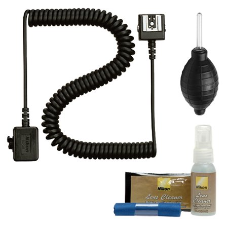 Nikon SC-28 Off Camera TTL Remote Flash Cord + Cleaning Kit for Speedlight SB-400, SB-500, SB-900 & SB-910