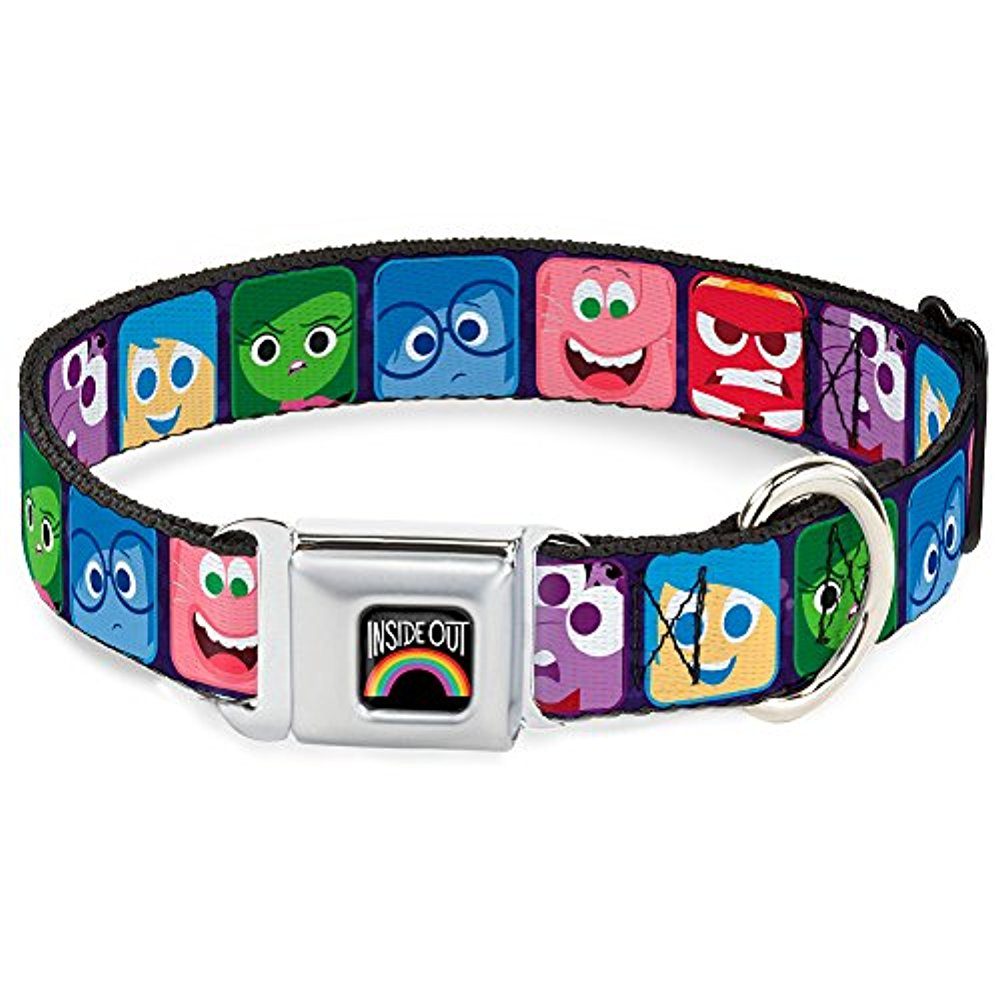 Dog Collar DYGC-INSIDE OUT Rainbow Full Color Black White Multi Color - Pet Collar