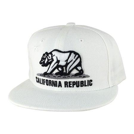 California Republic Snapback Hat Cap - White (The Hundreds X Diamond Supply Co Snapback)