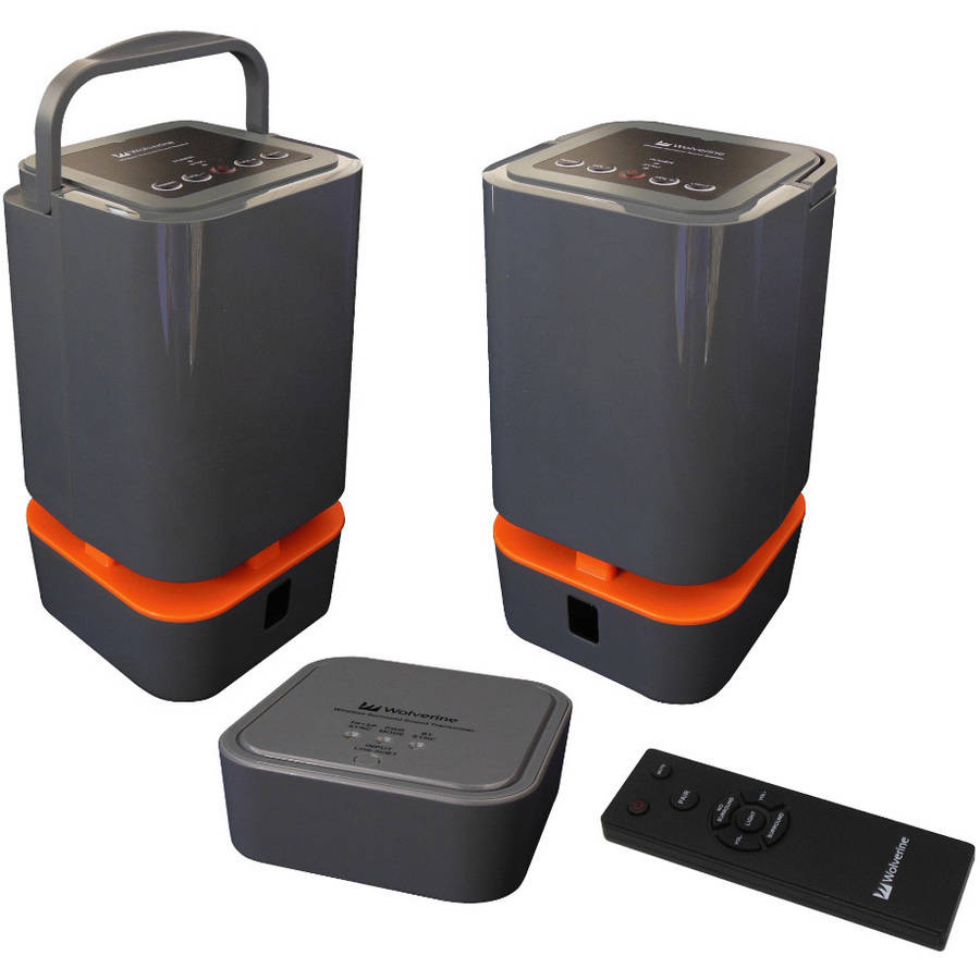Wolverine 5.8GHz Wireless Stereo Outdoor-Indoor Portable Speaker System with Bluetooth Connectivity