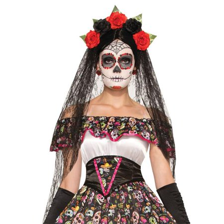 Morris Costumes FM74922 Day of Dead Veil Costume](Pierce The Veil Halloween Merch)