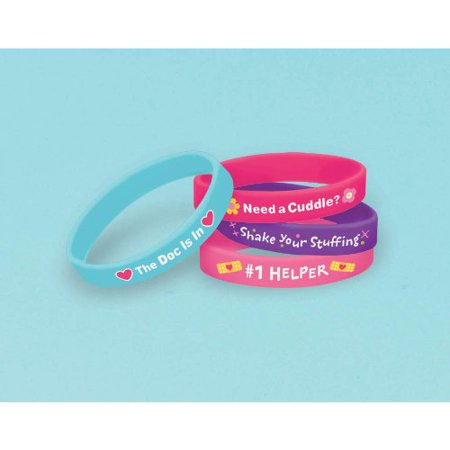 """Doc McStuffins Rubber Wristbands Birthday Party Accessory Favours Pack (4 Pack), Multi Color, 2 1/2"""" x 7/16"""". - image 3 of 3"""
