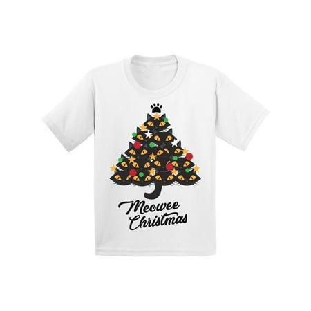 Awkward Styles Ugly Christmas T-Shirt for Baby Boys Girls Xmas Meowee Toddler Shirt Cat Tree ()