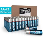 Rayovac High Energy Alkaline, AA Batteries, 72 Count