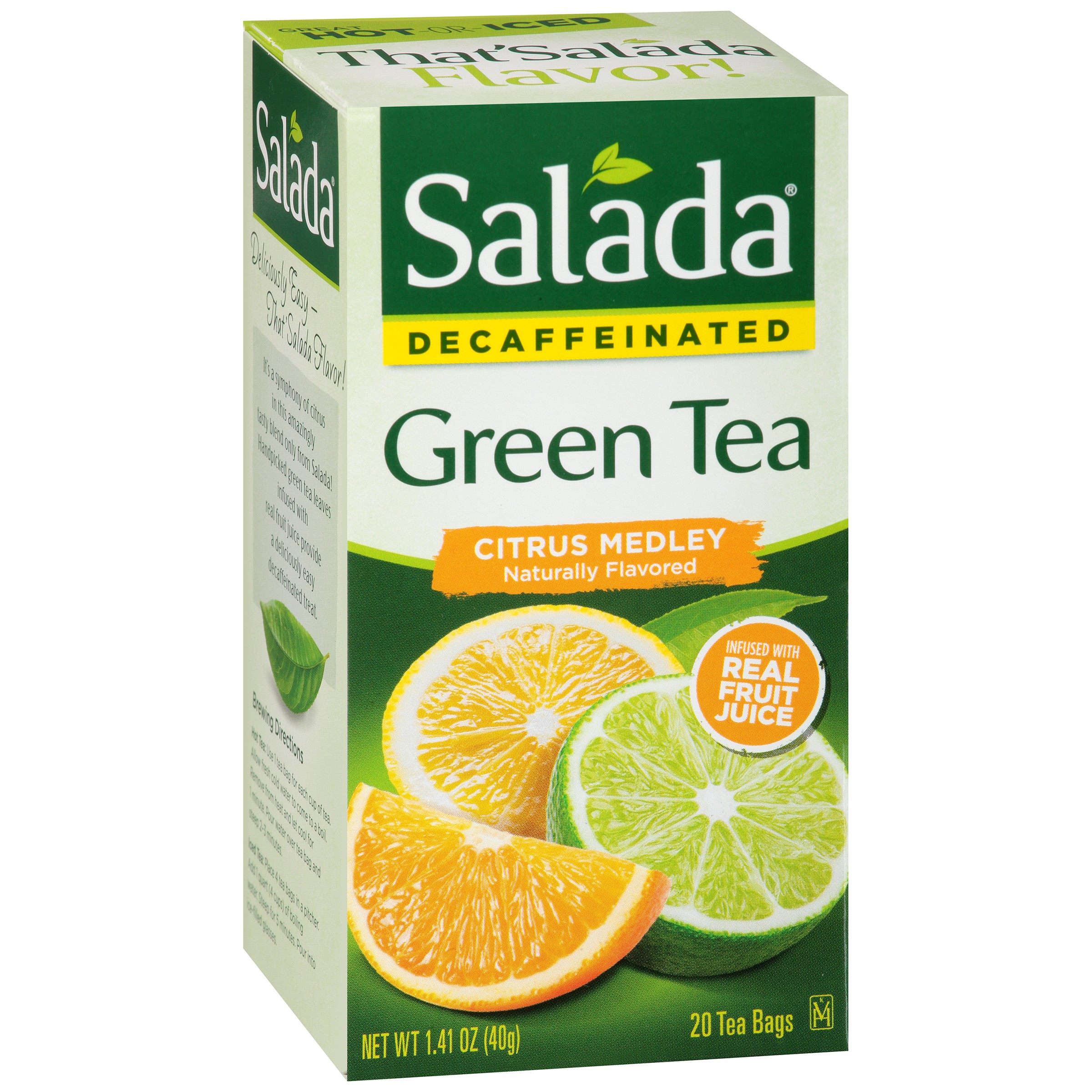 Salada Citrus Medley Green 20 count tea bags by Redco Foods, Inc.