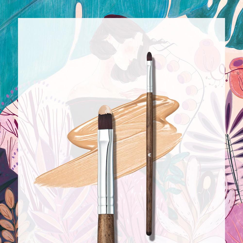 Girl12Queen Professional Nose Contour Lip Eye Shadow Makeup Brush Blending Concealer Brush