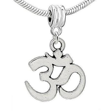 Ohm Symbol Bead Compatible for Most European Snake Chain BraceletPendant