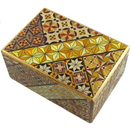 Open Japanese Puzzle Box - 4 Sun 9 Steps Piggy Bank Japanese Puzzle Box