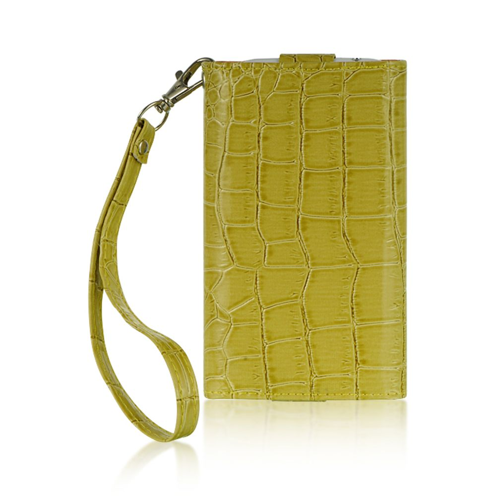 """Insten Universal Wallet-Style Carrying Case Compatible with 4"""" to 5"""" Smartphones, Green Crocodile - image 1 de 3"""