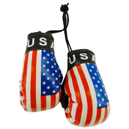 usa country flag mini boxing gloves to hang over your automobile mirror ...united states ... new Oklahoma State Wall Mirror