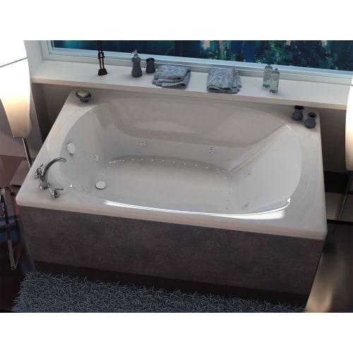 "Avano AV4872CDR Curacao 71-1/2"" Acrylic Air / Whirlpool Bathtub for Drop-In Installations with Right Drain"