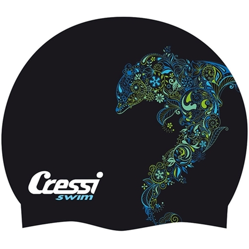 Cressi Fantasy Swim Cap (White / Small Turtle)