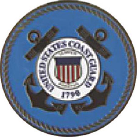Guard Emblem - Annin Flagmakers 470 Eagle Statuette with U.S. Coast Guard Emblem