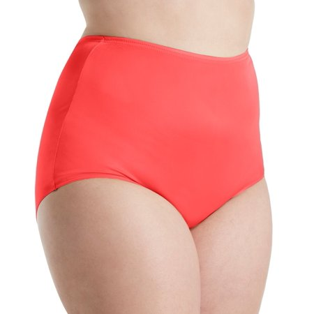 Women's Shadowline 17032P Plus Size Hidden Elastic Nylon Classic Brief Panty