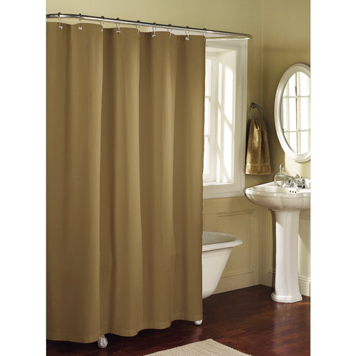 Mainstays Fabric Shower Curtain Liner, Brownstone