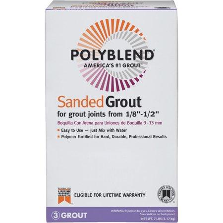 Custom Building Products Polyblend Sanded Tile (Custom Building Products Polyblend Grout Color Platinum)