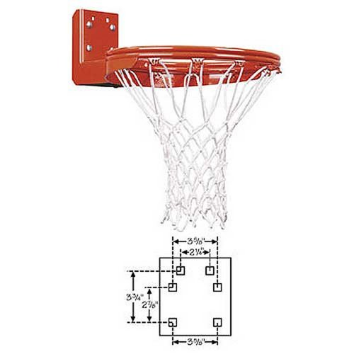FT170DR First Team Super Duty Double Rim Rear Mounted Fixed Basketball Rim