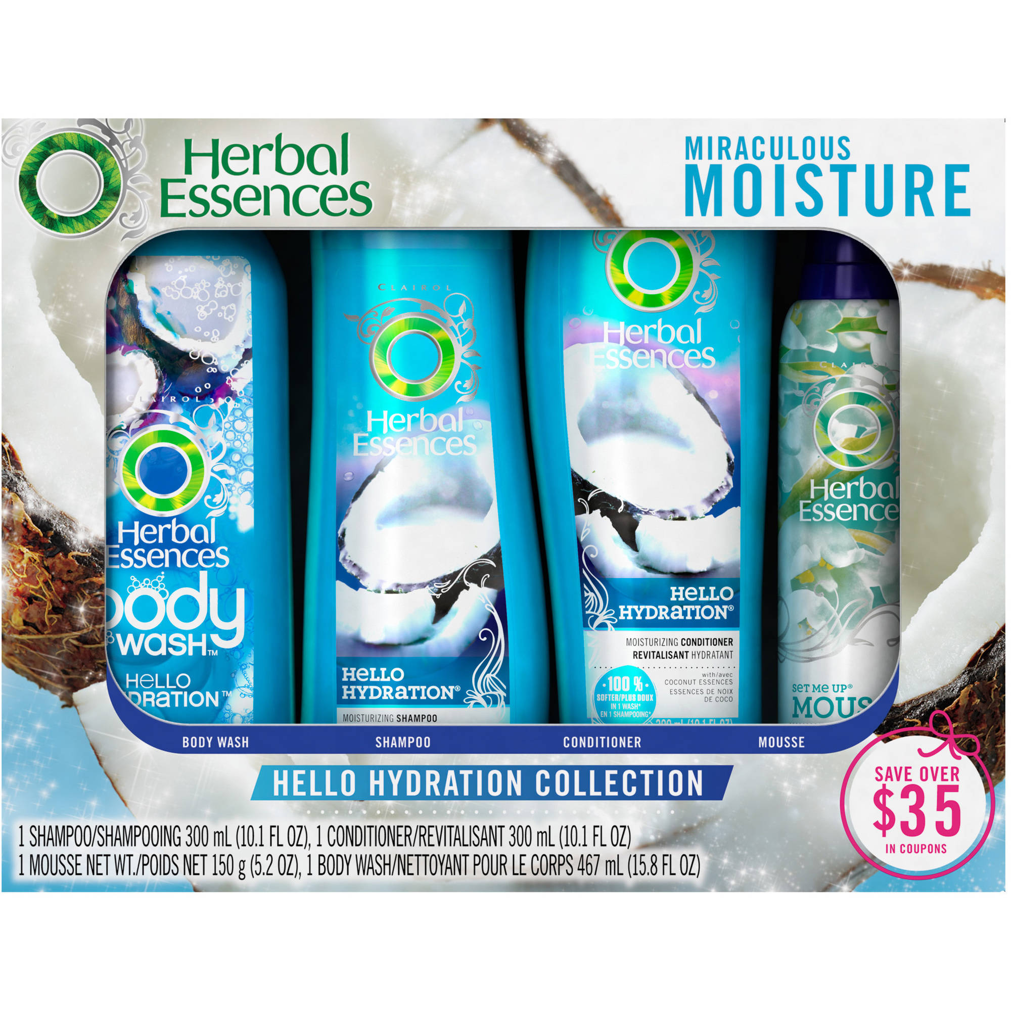 Herbal Essences Hello Hydration Collection Gift Set, 4 pc