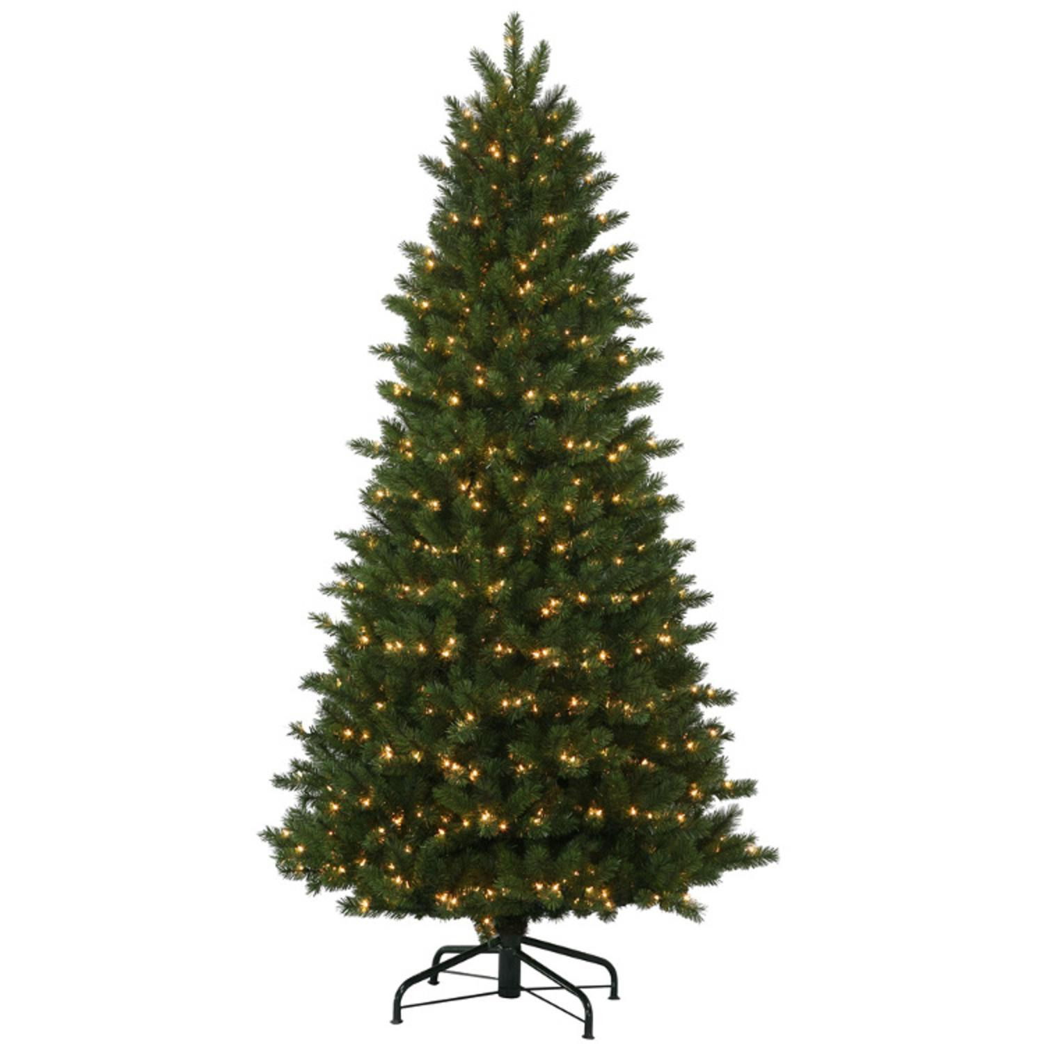 10.5' Pre-Lit Oregon Fir Instant Shape Medium Artificial Christmas Tree - Clear Dura-Lit Lights