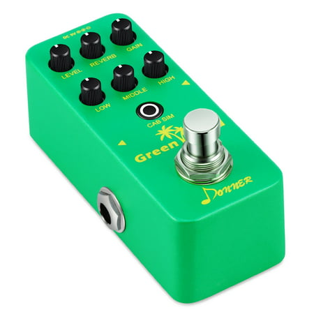 Preamp Pedal (Donner Perfect Green Land Mini Electric Guitar Preamp Pedal Effect )