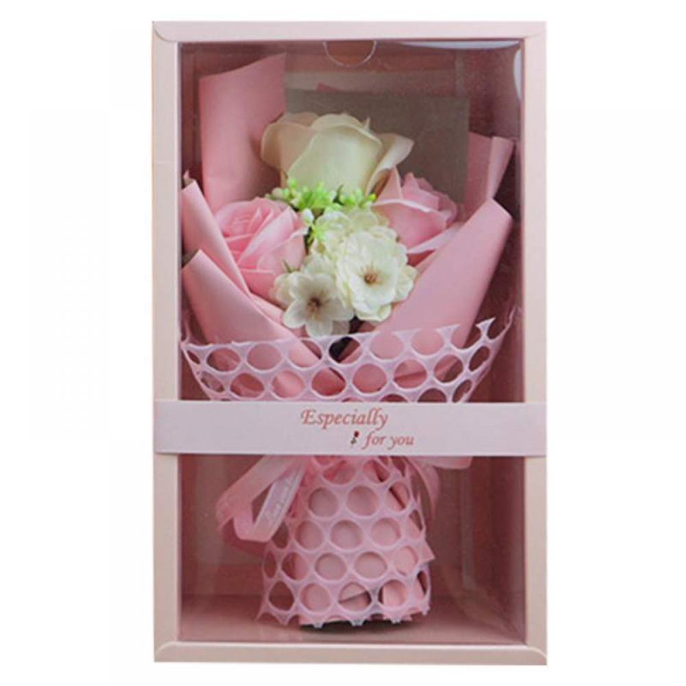 Brc Floral Decor Dried Flowers Artificial For Home Soap Roses Bouquet Gift Box Valentine S Day Anniversary Walmart Com