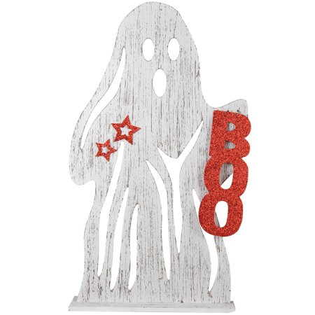 HALLOWEEN GHOST WOOD PORCH DECOR, 14 X 24 - Halloween Porch Decor