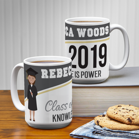 Personalized Graduation Character Mug - Black](Religious Graduation Gifts)