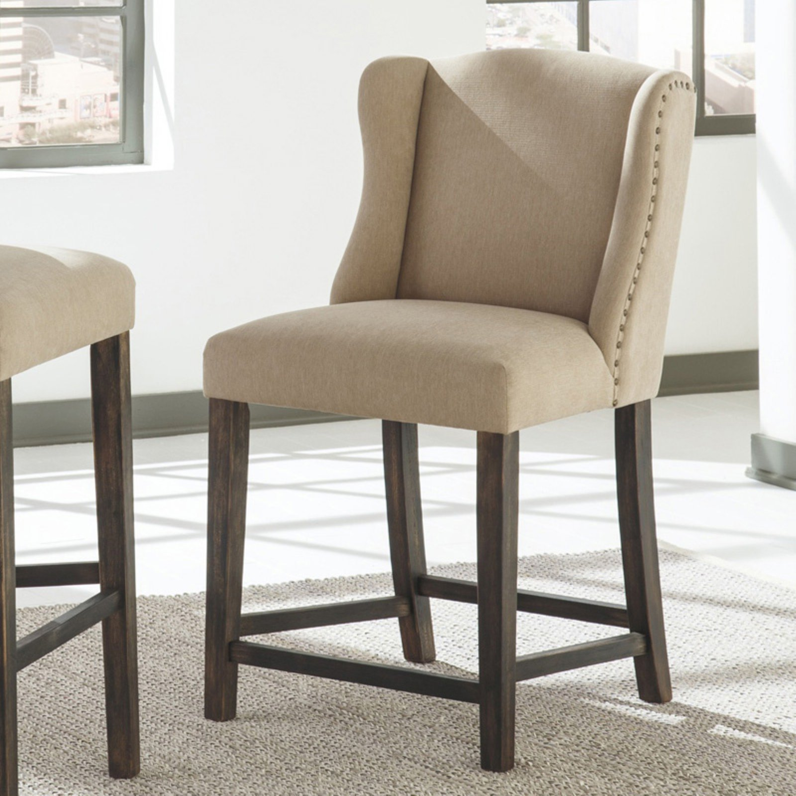 Signature Design by Ashley Moriann Upholstered 24.25 in. Counter Stool - Set of 2