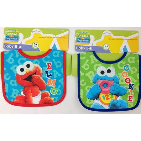 Sesame Street Beginnings Elmo & Cookie Monster Baby Bib Set - Newborns (0+ Months), O+ months By Sesame Beginnings