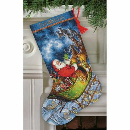 Metallic Stitch (Gold Collection Santa's Flight Stocking Counted Cross Stitch, 16