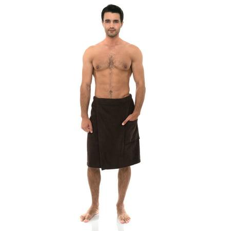 TowelSelections Men's Wrap, Shower & Bath, Terry Spa Towel (Mens Terry Wrap)