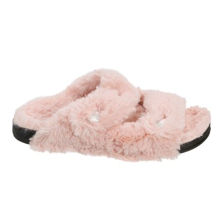 Dearfoams Women's Double Strap Slide Slippers ()