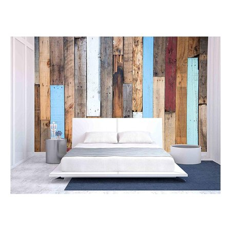 wall26 Wood Wall and Wood Texture - Removable Wall Mural | Self-adhesive Large Wallpaper - 100x144 inches