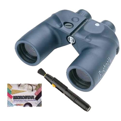 Bushnell Marine 7x50mm Binocular with Illuminated Compass + Accessory Bundle