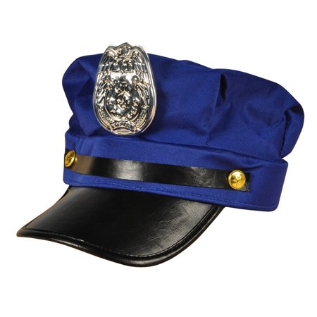 Rinco Police Officer Cop Halloween Costume Hat w Attached Badge, Blue, One - Thames Valley Police Halloween Poster