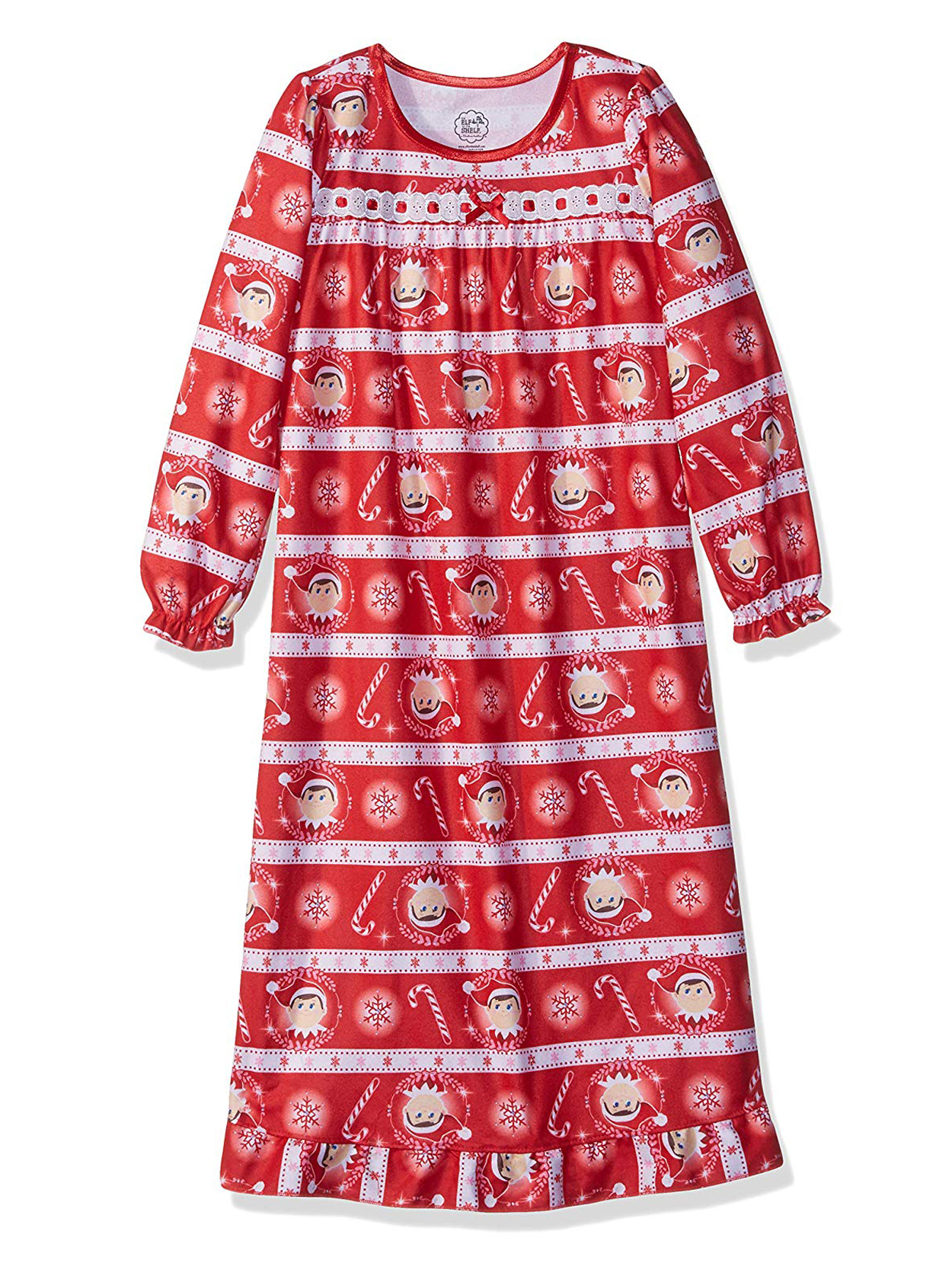 Elf on the Shelf Girls Christmas Holiday Granny Nightgown Pajamas 21EF133GGL
